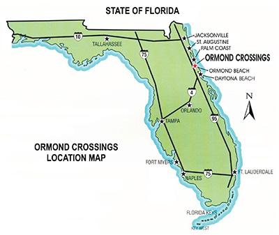 Ormond Crossings Location Map